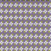 Fabric Freedom Retro Floral - 4634 - White Floral on Lilac  - FF135-3 - Cotton Fabric